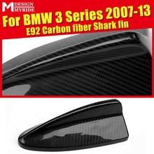 Carbon Fiber Roof Antenna Shark Fin Cover Decoration For BMW E92 320i 323i 325i 328i 330i 335d 335i 335ixD Antenna Cover 2007-13 стоимость