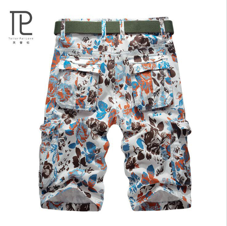 Tailor Pal Love Summer Mens Shorts Casual Bermuda Brand Solid Cotton Compression Male Cargo Shorts Men Camouflage Beach Short D0