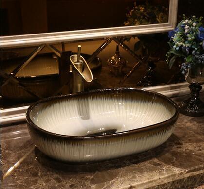 European antique ceramic bench washbasin oval art bathroom toilet ...