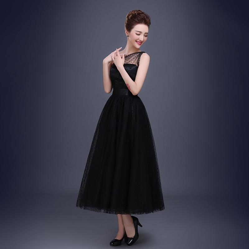 Bonito Longitud Vestido Té Negro Bosquejo - Ideas de Estilos de ...