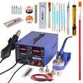 YIHUA 853D Estación de soldadura de retrabajo 3 en 1 SMD, pistola de aire caliente de soldadura con 5V 2A, fuente de alimentación USB DC, herramienta de reparación de soldadura BGA