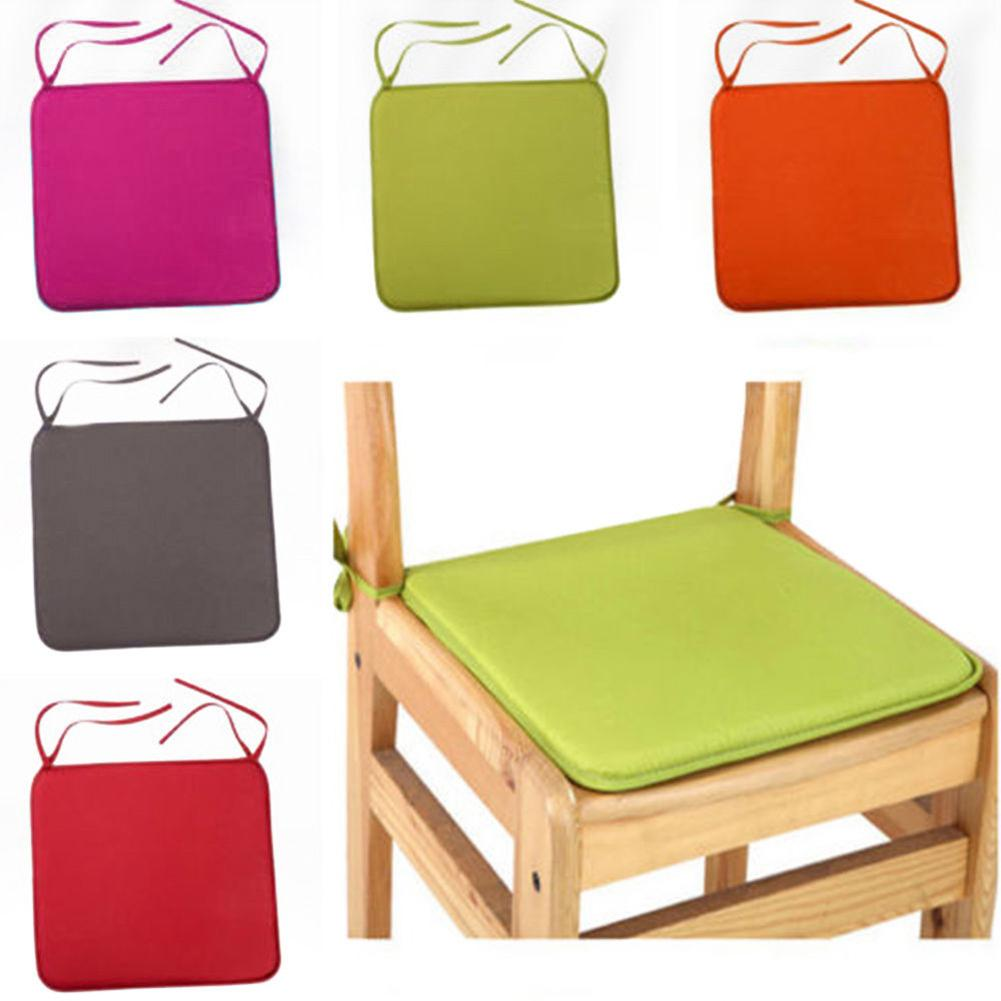 40x40cm Chair Cushions Seat For Dinning Chairs Outdoor Indoor Kitchen Square Soft Tie On Chair Pad Home Decor