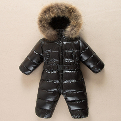 Winter warm baby body Overall Kinder ente unten overalls Schneeanzug kleinkind kinder jungen mädchen fell kapuze romper kostüm kleidung