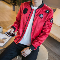 High Quality Mens Jacket Autumn New Slim Fit Casual Bomber Jackets Men Long Sleeve Stand Collar