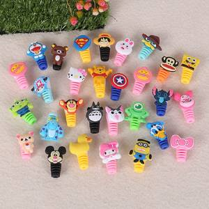 Cover Protector Cable Cord-Wire Charging-Cable-Winder Silicone Mini Cute 1pcs for iPhone