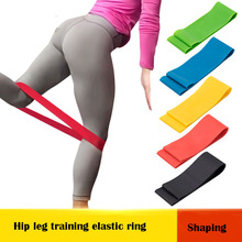 Yoga rally belt elastic green latex rope stretching tension resistance circle fitness weight loss