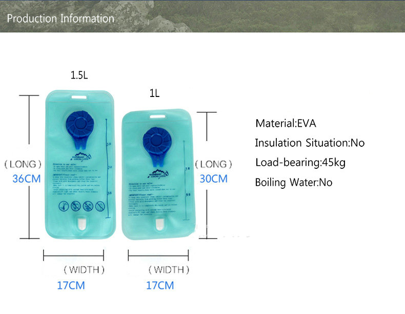 OUTDOOR LOCAL LION 1L-2L EVA Water Bag Hydration Bicycle Camping Hiking Climbing Outdoor Sport Water Bag (1)