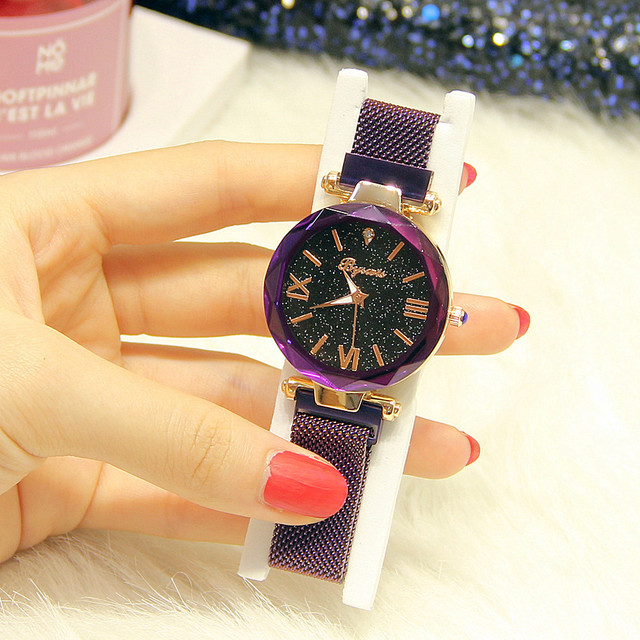 Women Wrist Watch Japanese Watch Movement Starry Design For Woman Waterproof Round Movement Starry Design For Woman | Fotoflaco.net