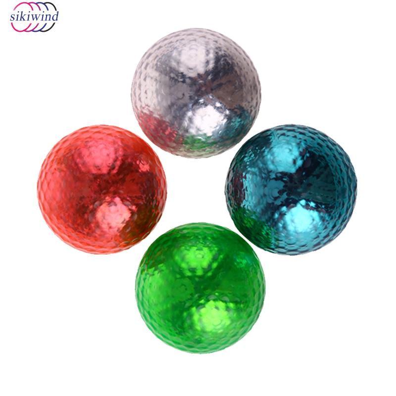 4pcs/lot Double Layer Colorful Golf Practice Training Ball Elastic Rubber Golf Gift Ball for Children and Golf Beginner Teaching