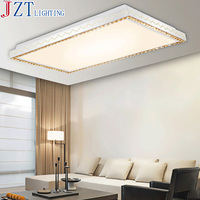 M Exquisite Carving Led Ceiling Lamp Modern Luxury K9 Crystal Decorate Rectangular And Circular Stepless Dimming