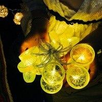 20LED EU Plug Fruit String Light Strip Home Decor Banquet Bar Energy Saving Light Fresh Fruit