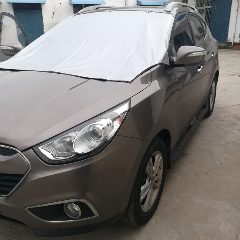 Car Windshield Snow Cover Car Sunshade Cover Dual-use Winter Magnetic Front Windshield Snow Cover(China)