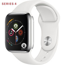 50% de réduction sur hommes femmes Bluetooth montre intelligente série 4 SmartWatch pour Apple iOS iPhone Xiaomi Android téléphone intelligent (bouton rouge)(China)