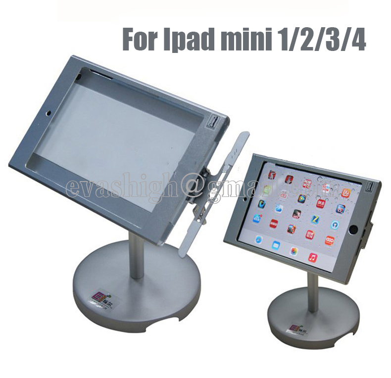 ФОТО Tablet high security display stand,Anti-theft device,exhibition holder,Protection lock mount,Loss prevent for Ipad mini 1/2/3/4