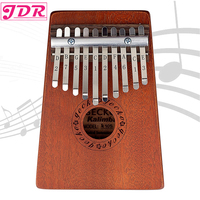 JDR Kalimba Mbira Sanza 10 Keys Thumb Piano Pocket Size Beginners Friendly Supporting Bag and Keyboard Musical Instrument
