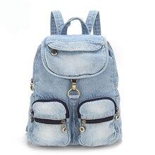 Туристические рюкзаки джинсовая сумка для женщины девушки сумка Винтаж Для женщин сумка школьные рюкзаки для девочек-подростков Рюкзак Campus сумки