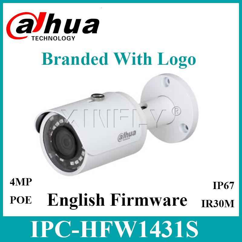 1/2 Pcs/ Lot Dahua IPC-HFW1431S 4MP WDR IR Mini-Bullet Camera Upgradable Replace IPC-HFW1420S IPC-HFW1320S-W with Logo