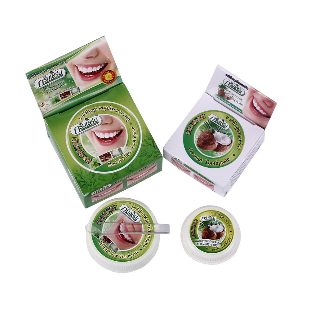 Natürliche Rasyan Pflanzliche Clove Thailand Zahnpasta Zahn Bleaching Zahnpasta Entfernen Schlechten Atem Zahnpflegemittel Zahn Paste 35g Pulver