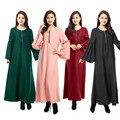 2016 de la moda de ropa abaya musulmán de la muchacha vestido largo las mujeres turcas burka más tamaño dubai árabe chilaba cremallera del vestido 4 colores