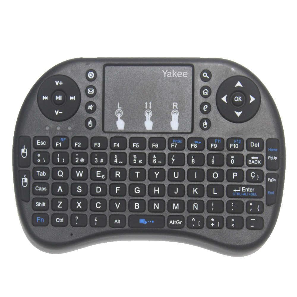 Clavier i8 2.4GHz Air souris sans fil clavier télécommande Touchpad pour Android 9.0 TV BOX HK1 max X88 pro