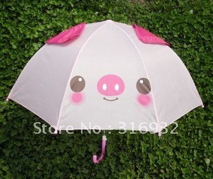 Free shipping lovely pink pig umbrella for children