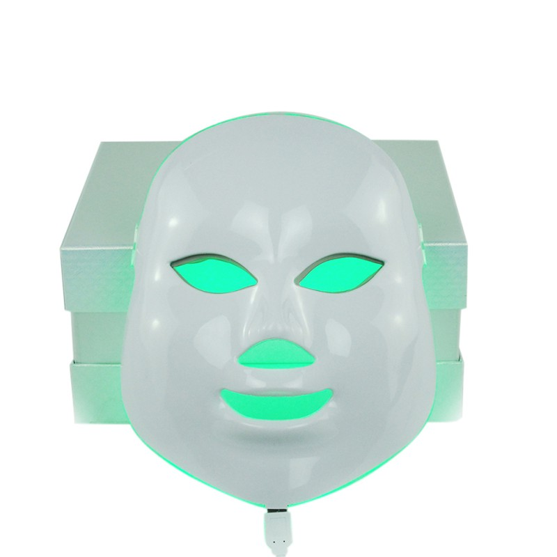 7 Colors LED Facial Mask Wrinkle Acne Removal Face Beauty Spa Beauty Therapy Photon Light Skin Care Rejuvenation Instrument P8 2017 newest 7 color light photon led facial mask skin care rejuvenation wrinkle acne removal face beauty spa instrument us plug