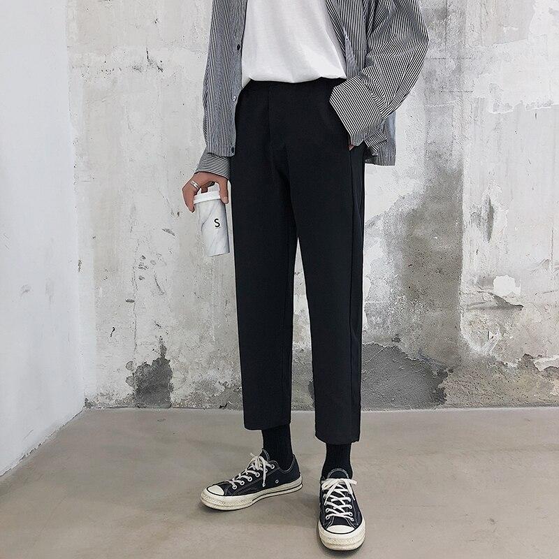 2019 Summer Men's Casual Pants Male Leisure Fashion Trend High-quality Wide Leg Pants Black Color Loose Trousers Big Size S-5XL