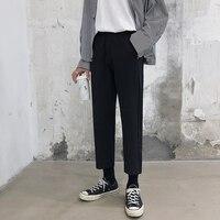 2019 Summer Men's Casual Pants Male Leisure Fashion Trend High quality Wide Leg Pants Black Color Loose Trousers Big Size S 5XL