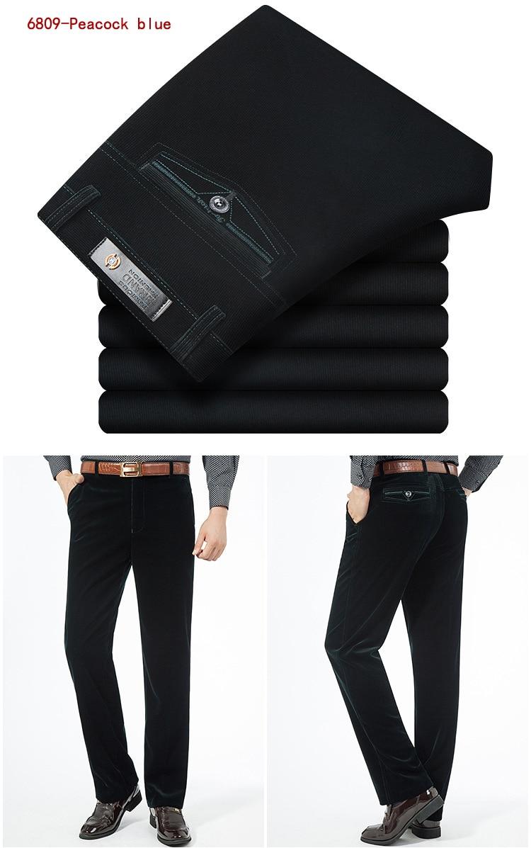 HTB1v3j6KeGSBuNjSspbq6AiipXaJ Autumn Spring corduroy trousers men's leisure pants high waist straight middle-aged wash and wear business casual corduroy pants