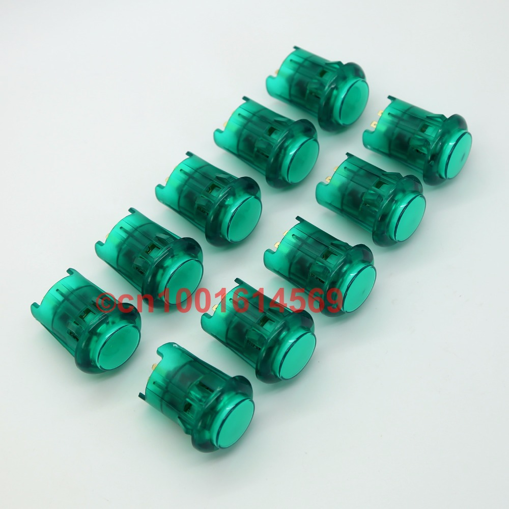 DIY New Reyann 10Pcs/lot 5V 30mm Arcade LED Lamp Buttons Illuminated Action Button For Raspberry Pi 1 2 Retropie 3 Model B Green ...