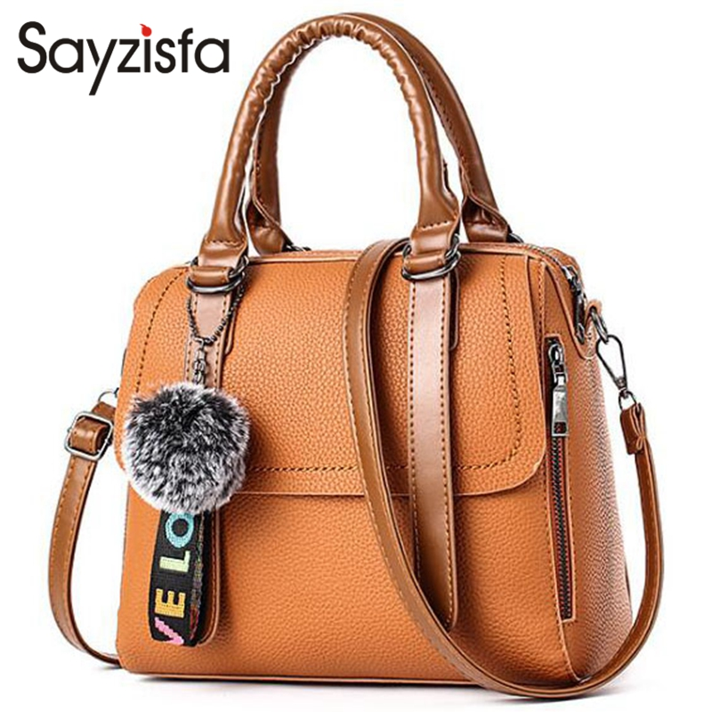 Sayzisfa Brand New 2017 Women Handbag Leather Lady beautiful Messenger Bag Simple fashion Women's Shoulder Bag Female sac T511 free shipping new fashion brand women s single shoulder bag lady messenger bag litchi pattern solid color 100