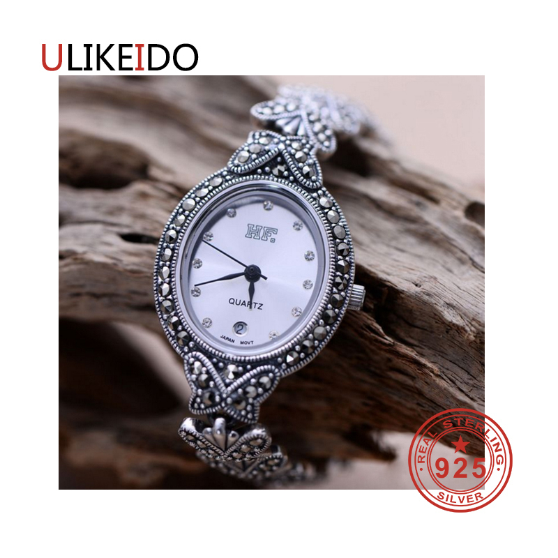 100% Pure 925 Sterling Silver Watch Men Fashion Hand Chain For Women Thai Silver Jewelry Charm Bracelet Homme 1532 925 sterling silver mens bracelets fashion domineering classic hand chain for men and women special jewelry charm bracelet 267