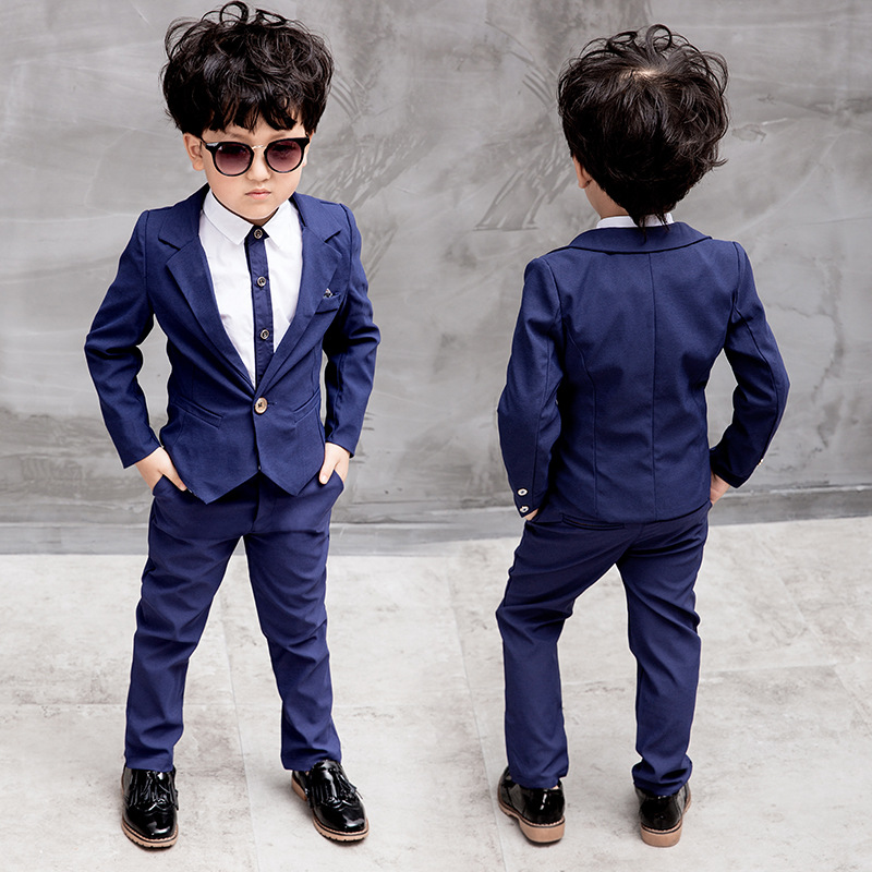 Children Clothing Formal Blazers Suit for Boys Clothes Fashion Children Wedding Blazers Sets Shirt+coat+pant Sets Boys Clothing boys suit new spring autumn teen boys single breasted blazers casual wedding coat jacket children s top clothing kids clothes