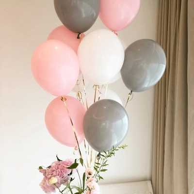 New 10 inch Matte Latex Balloon Wedding Decoration Birthday Party Supply Beauty Gray Color Latex Air Balloon Kids Toy 20pcs