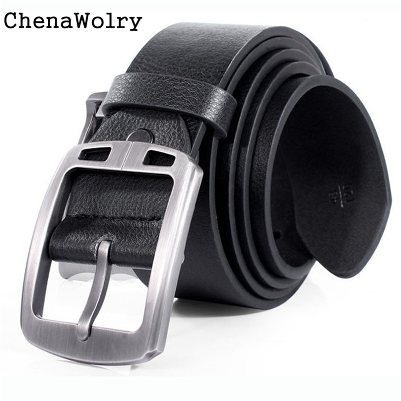 ChenaWolry 1PC High quality Fashion Accessory New Slim Vintage Classic Jean Pin Buckle Belts Business Casual Black Oct 10