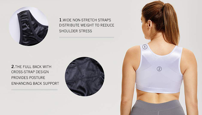 4226926d11 2019 SYROKAN Women S High Impact Back Support Zip Front Close Plus ...