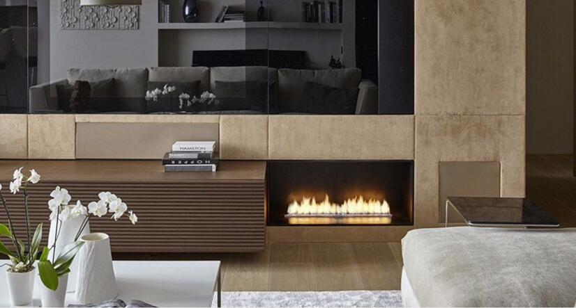 18 Inch Silver Or Black Wifi Real Fire Indoor Automatic Intelligent Fireplace Alcohol