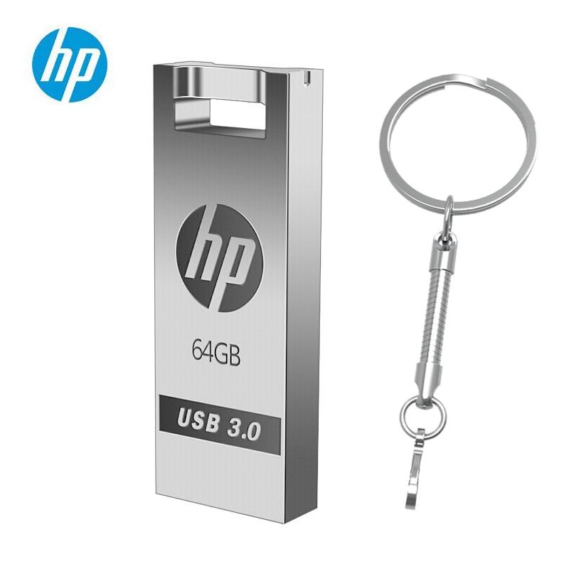 HP Metal Flash Disk 64gb USB 3.0 X795W 32gb 16gb 128gb High Speed Mini Cle Memory Stick Pendrive DIY Free Ship USB Flash Drive
