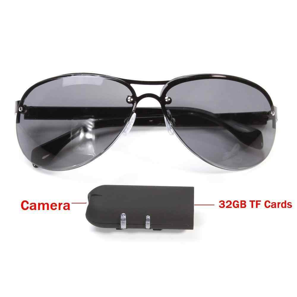 Sunglasses HD 1080P Mini Glasses Camera Outdoor Action Sport Video Polarized Lens Security Bicycle Secret Factional Helmet Bike