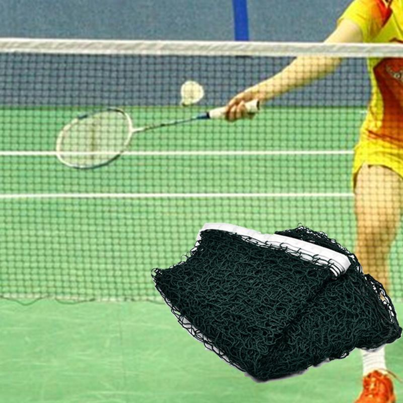 Easily Tied-on 6.1mx0.76m Portable Lightweight Standard Braided Badminton Net Professional Badminton Sport Training Accessories