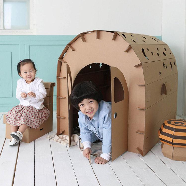 TOP Intérieur extérieur BRICOLAGE artisanal De Haute qualité papier château Maison tente enfant parc pique-nique jeu de vacances jouer tente bébé jouet cadeau