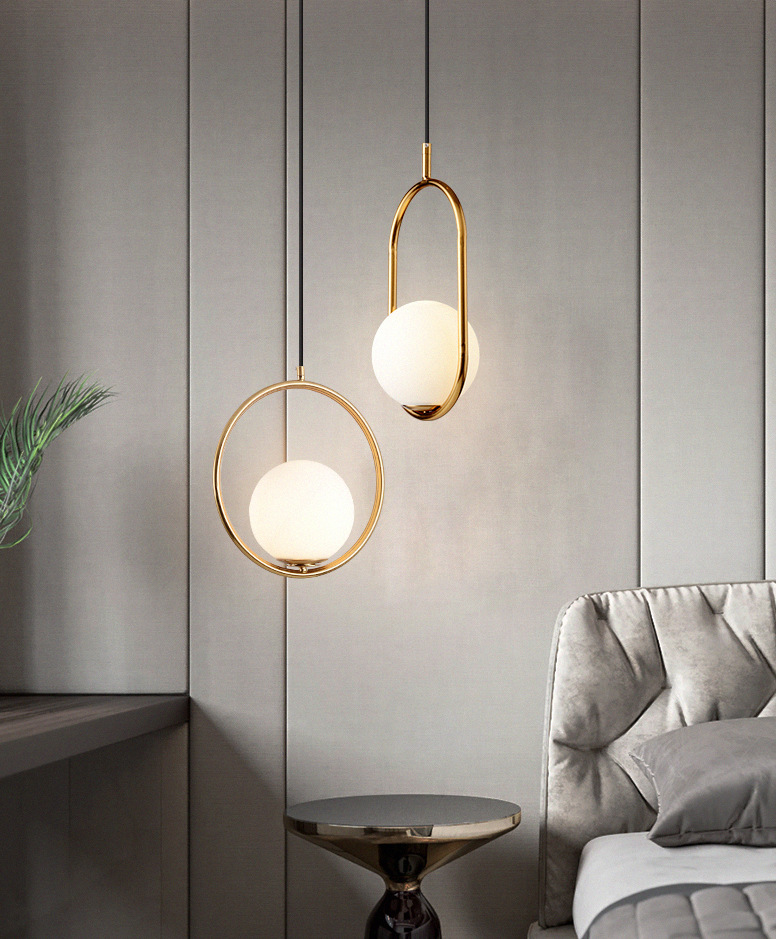 Modern Nordic bedroom bedside chandelier simple personality creative restaurant light bar table lamp glass ball chandelier in Pendant Lights from Lights Lighting
