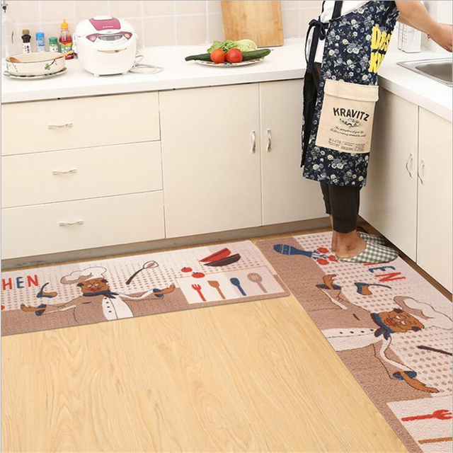 Original Design Simple Style Soft Acrylic Anti Slip Kitchen Mats Door Mat  Home Floor Area