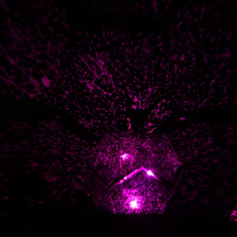 Venta caliente romántico Celestial Astro cielo Cosmos de la estrella proyector montado/Pre-ensamblados estrellado luz de noche regalo de Navidad de la gota envío