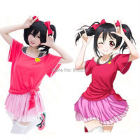 Love Live Nico Yazawa Tops Skirt Practice Song Outfit Daily Cosplay Costumes