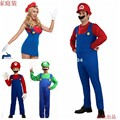 super marie cosplay family costumes,Water electrician straps clothing for halloween