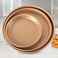Baking Tray Pizza Plate 6 Inch 8 9 Gold Non-stick Bottom Mold Round Dish Tool