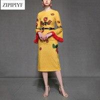 High-quality-2018-women-summer-runway-fashion-dress-flare-sleeve-vintage-yellow-embroidery-sheath-dress-mid.jpg_200x200