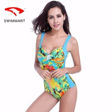 SWIMMART swimsuit push up prints plus size one-piece bikini swimwear women one piece swimming suit for women swim suit push up