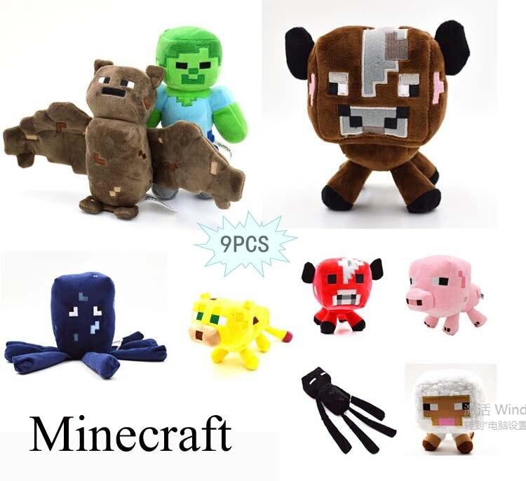 Minecraft الساخنة أفخم لعبة 9 قطعة / الوحدة - اللعب القطيفة
